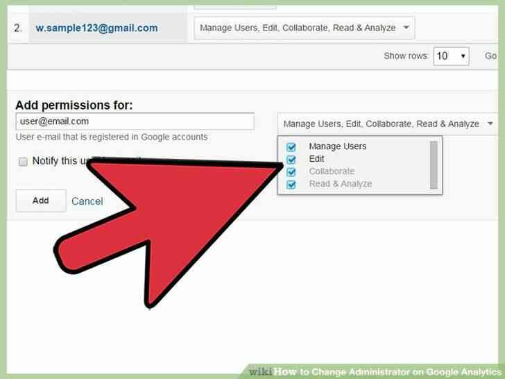 Imagen titulada Cambio de Administrador de Google Analytics Paso 11