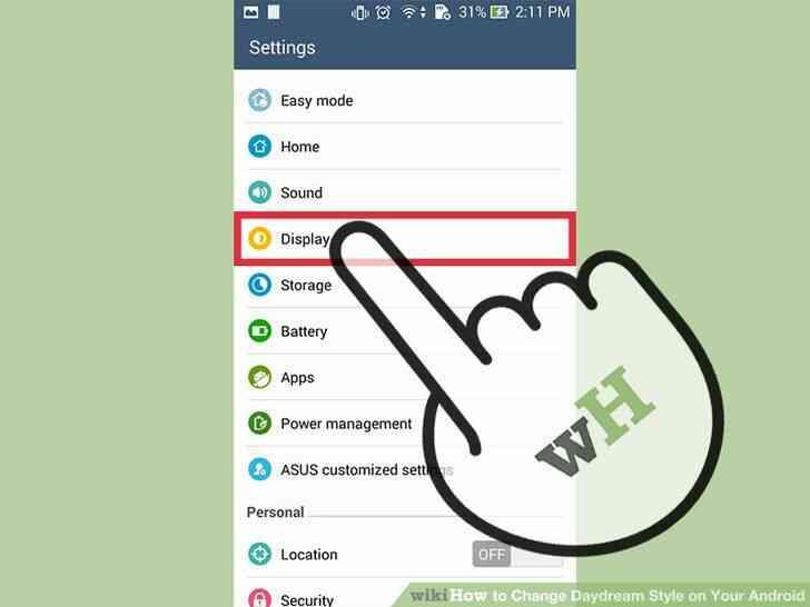 Imagen titulada Cambio de soñar Despierto Estilo en Tu Android Paso 2