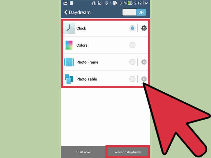 Cómo Cambiar soñar Despierto Estilo en Tu Android