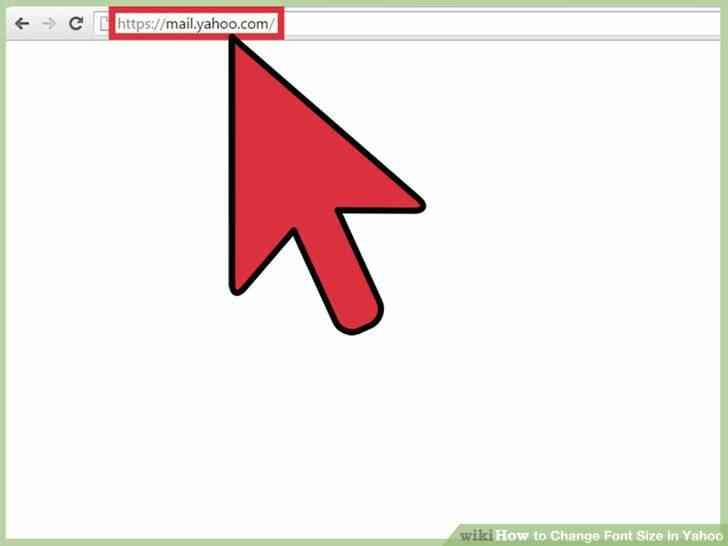 Imagen titulada Cambiar el Tamaño de Fuente en Yahoo Paso 1