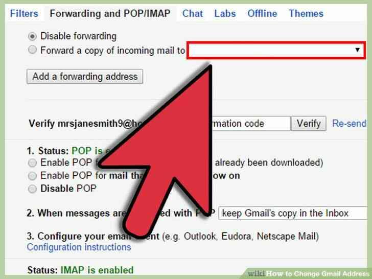 Image titulado Cambio de Dirección de Gmail Paso 8