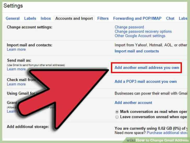 Image titulado Cambio de Dirección de Gmail Paso 16
