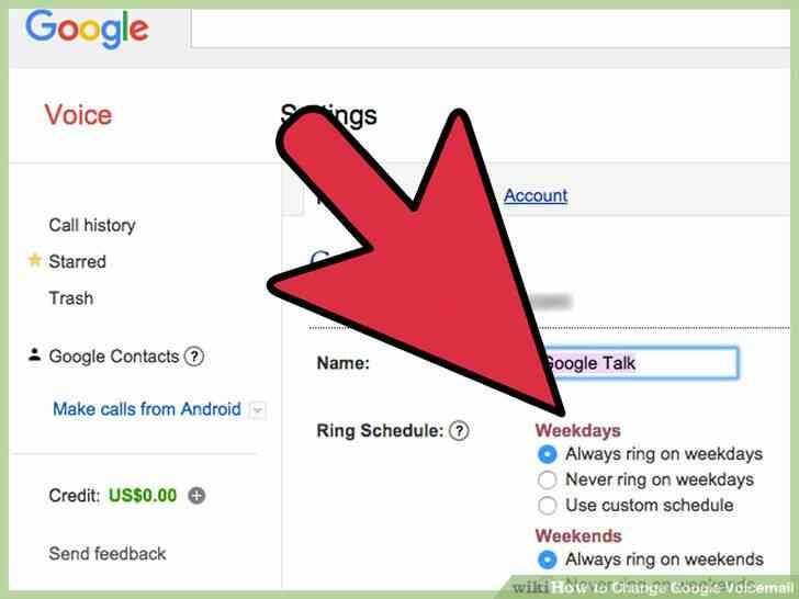 Imagen titulada Cambio de Google de correo de Voz Paso 7