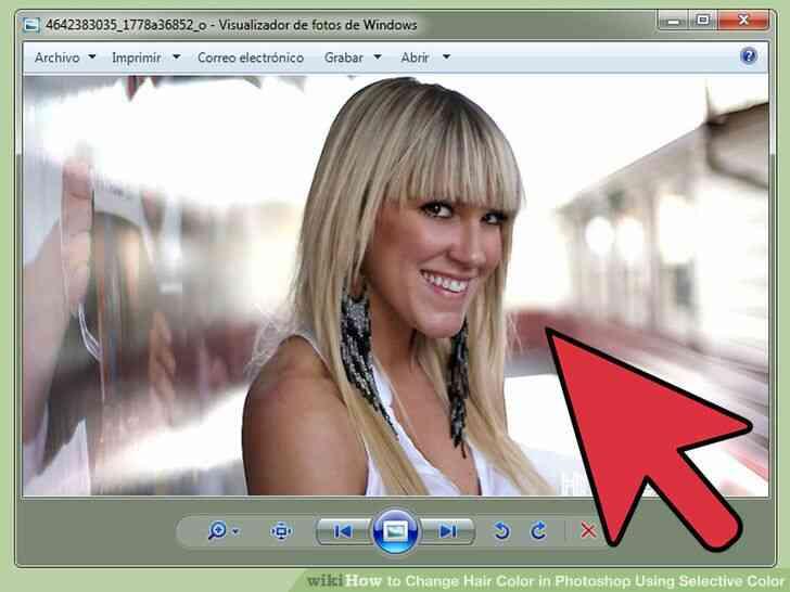 Imagen titulada Cambio de Color de Pelo en Photoshop Utilizando Color Selectivo Paso 1