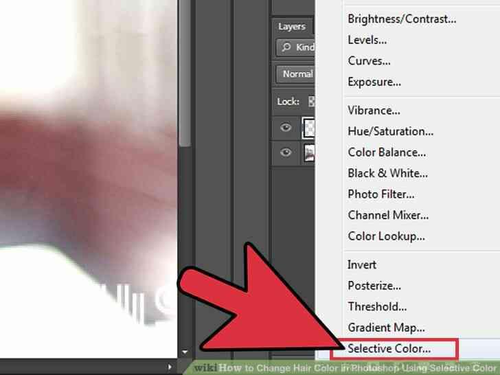 Imagen titulada Cambio de Color de Pelo en Photoshop Utilizando Color Selectivo Paso 6