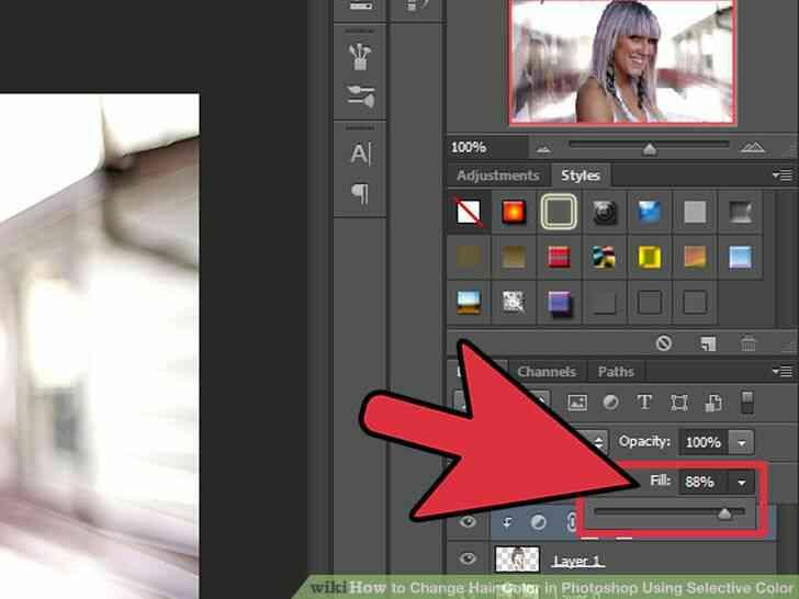 Imagen titulada Cambio de Color de Pelo en Photoshop Utilizando Color Selectivo Paso 10