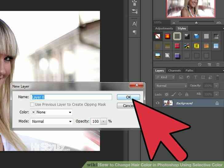 Imagen titulada Cambio de Color de Pelo en Photoshop Utilizando Color Selectivo Paso 2