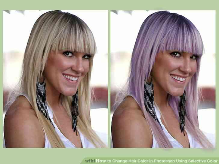 Imagen titulada Cambio de Color de Pelo en Photoshop Utilizando Color Selectivo Paso 12