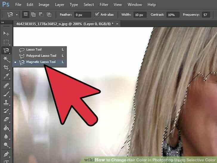 Imagen titulada Cambio de Color de Pelo en Photoshop Utilizando Color Selectivo Paso 3