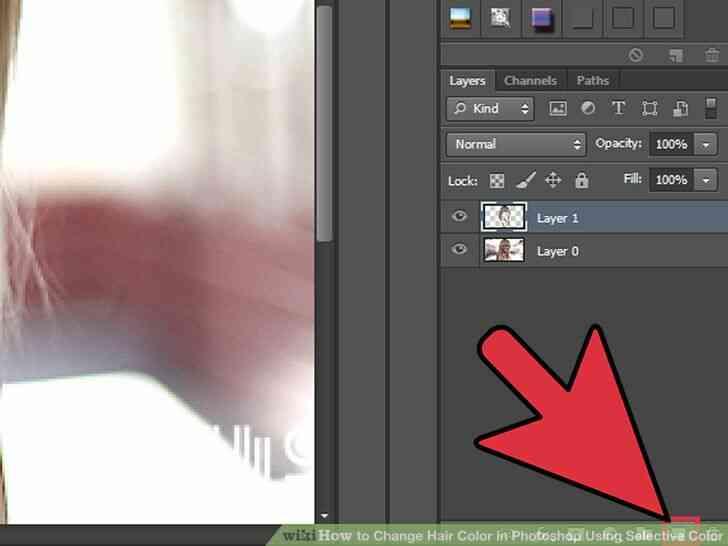 Imagen titulada Cambio de Color de Pelo en Photoshop Utilizando Color Selectivo Paso 5