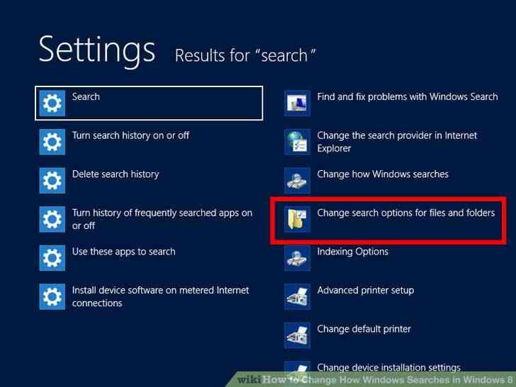 Imagen titulada Cambiar la forma de las Búsquedas en Windows en Windows 8 Paso 2