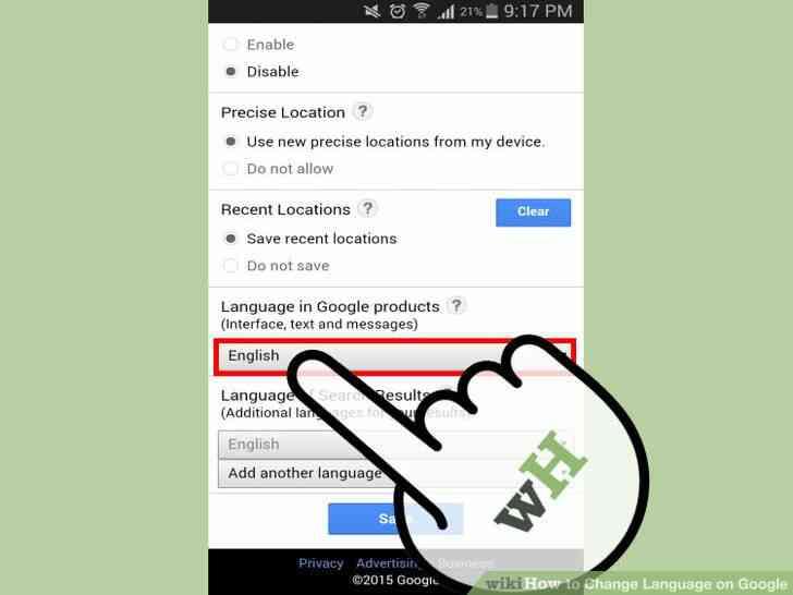 Imagen titulada Cambio de Idioma en Google Paso 8