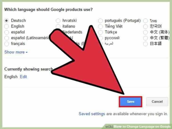 Imagen titulada Cambio de Idioma en Google Paso 4