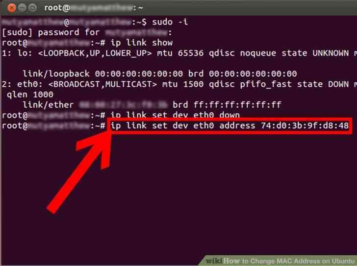 Image titulado Cambio de Dirección MAC en Ubuntu Paso 5