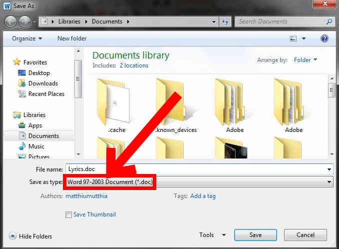 Cómo Cambiar de Microsoft Word 2010 Defecto .Doc