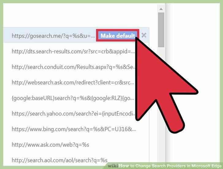 Imagen titulada Cambiar los Proveedores de Búsqueda en Microsoft Borde Paso 8