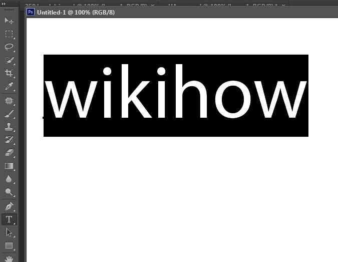 Imagen titulada Cambiar el Color del Texto en Photoshop Paso 1
