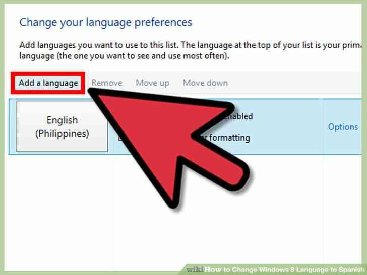 Imagen titulada Cambio de Idioma de Windows 8 a Paso español 8