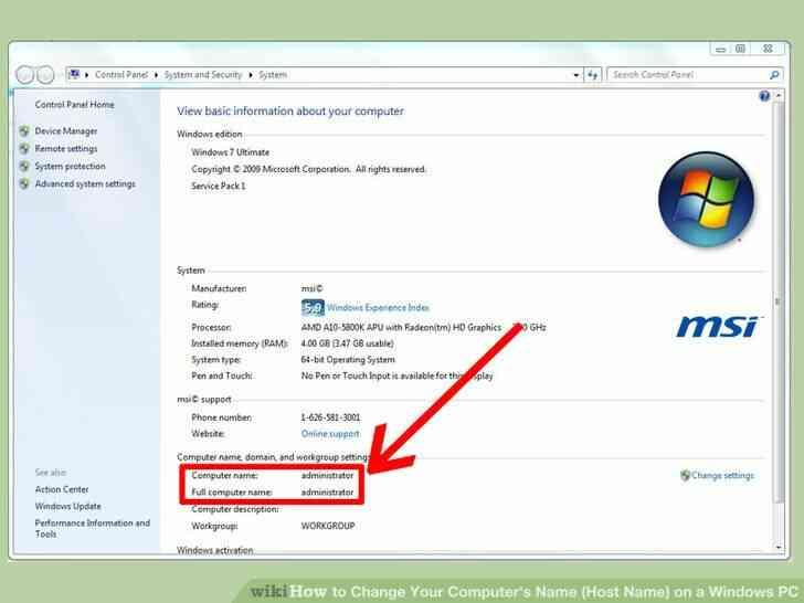 Imagen titulada Cambiar el Nombre de Su Equipo(Nombre de Host) en Windows PC Paso 10