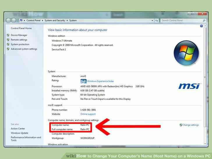 Imagen titulada Cambiar el Nombre de Su Equipo(Nombre de Host) en el PC con Windows Paso 2