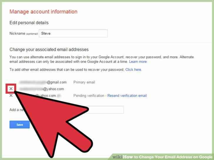 Imagen titulada Cambiar Su Dirección de Correo electrónico en Google Paso 8