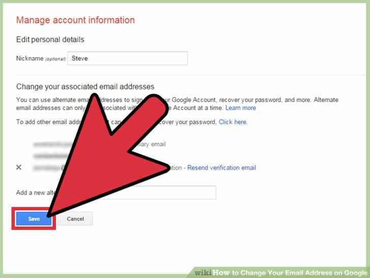 Imagen titulada Cambiar Su Dirección de Correo electrónico en Google Paso 9