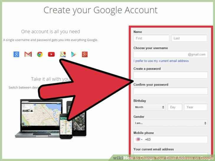 Imagen titulada Cambiar Su Dirección de Correo electrónico en Google Paso 10