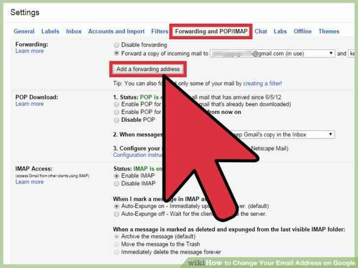 Imagen titulada Cambiar Su Dirección de Correo electrónico en Google Paso 11