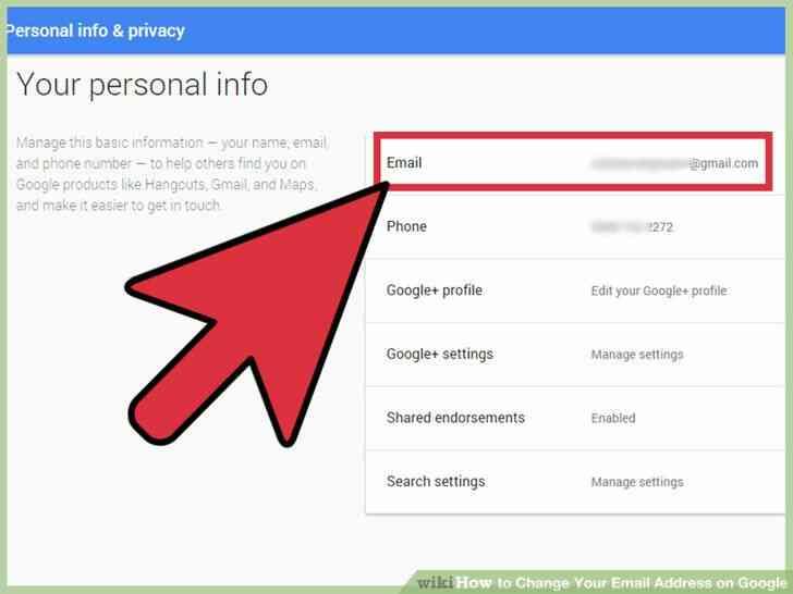 Imagen titulada Cambiar Su Dirección de Correo electrónico en Google Paso 3