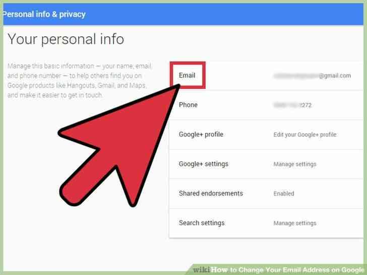 Imagen titulada Cambiar Su Dirección de Correo electrónico en Google Paso 4