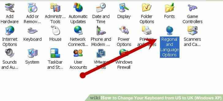 Imagen titulada Cambiar el Teclado de NOSOTROS a reino unido (Windows XP) Paso 1