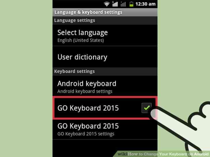 Imagen titulada Cambiar de Teclado en Android Paso 4