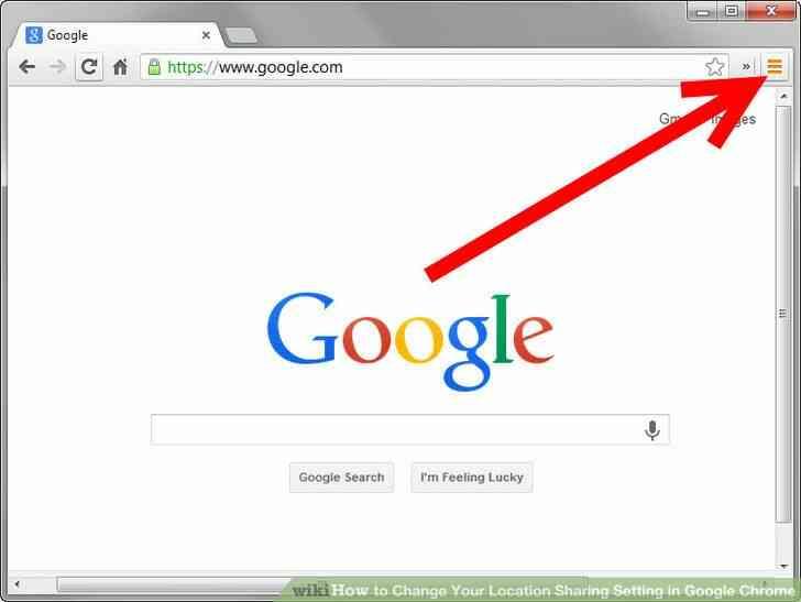 Imagen titulada Cambiar Su Ubicación Configuración de uso Compartido en Google Chrome Paso 1