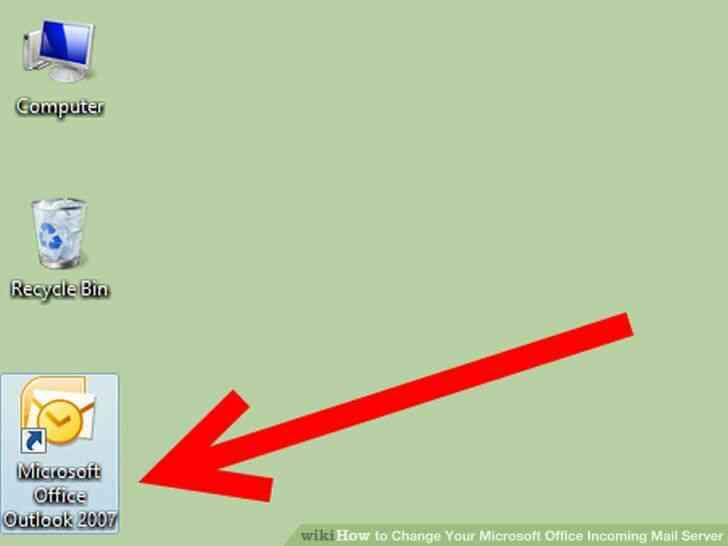 Imagen titulada Cambiar de Microsoft Office Servidor de Correo Entrante Paso 1