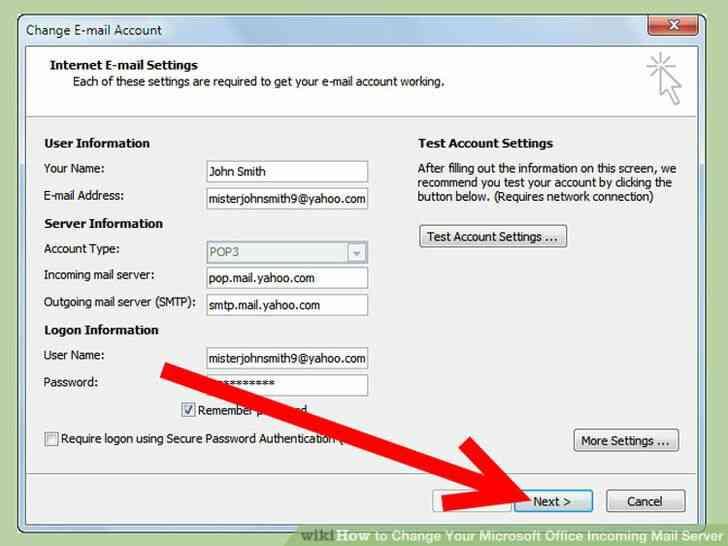 Imagen titulada Cambiar de Microsoft Office Servidor de Correo Entrante Paso 6