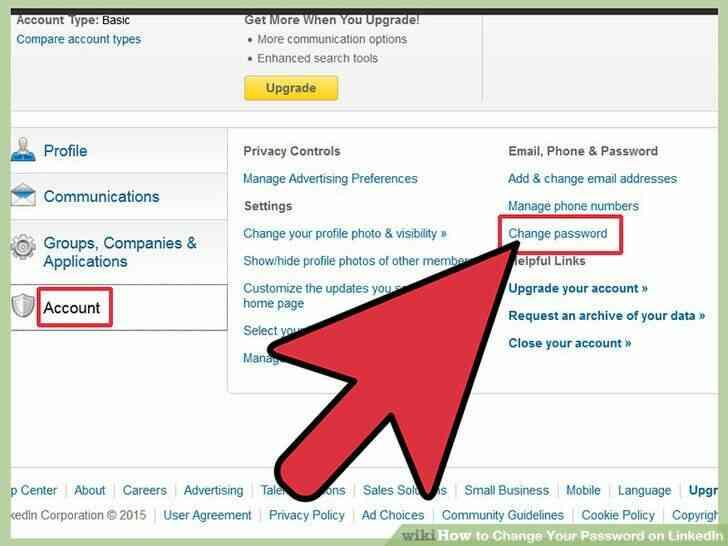 Imagen titulada Cambiar Su Contraseña en LinkedIn Paso 5