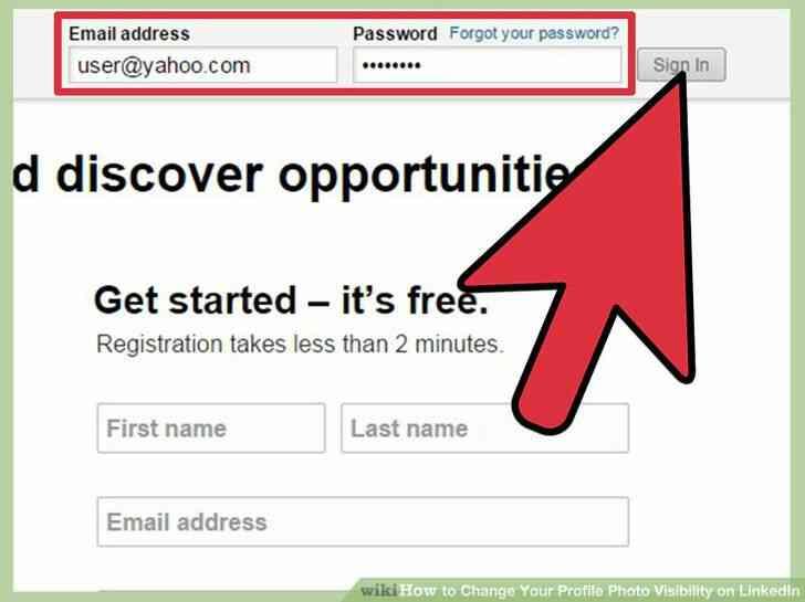 Imagen titulada Cambiar Tu Foto de Perfil de la Visibilidad en LinkedIn Paso 3