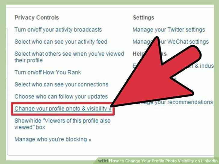 Imagen titulada Cambiar Tu Foto de Perfil de la Visibilidad en LinkedIn Paso 5