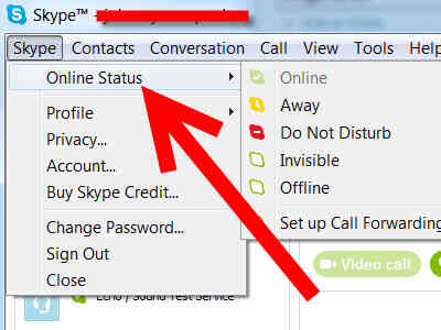 Imagen titulada Cambiar Tu Estado de Skype Paso 3