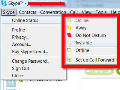 Imagen titulada Cambiar Tu Estado de Skype Paso 4