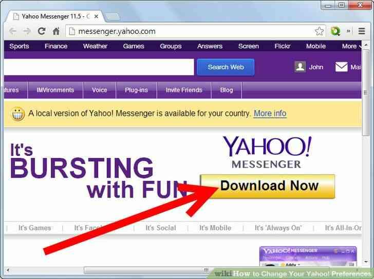 Imagen titulada Cambiar Tu cuenta de Yahoo! Preferencias de Paso de 1