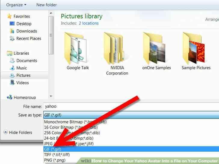 Imagen titulada Cambiar Tu Avatar de Yahoo En un Archivo en Su Computadora Paso 12