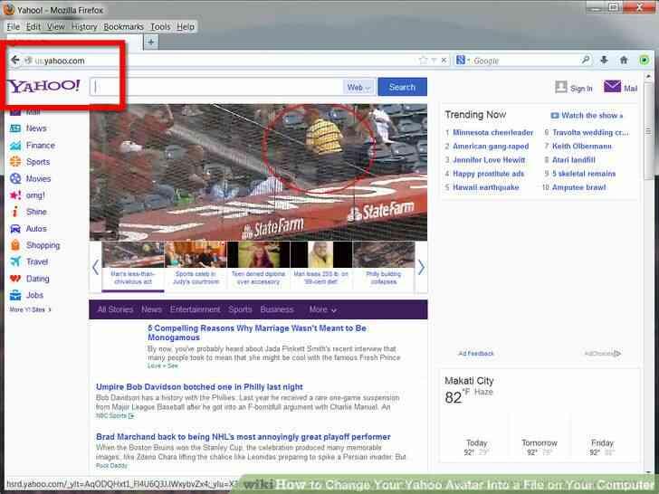 Imagen titulada Cambiar Tu Avatar de Yahoo En un Archivo en Su Ordenador Paso 3