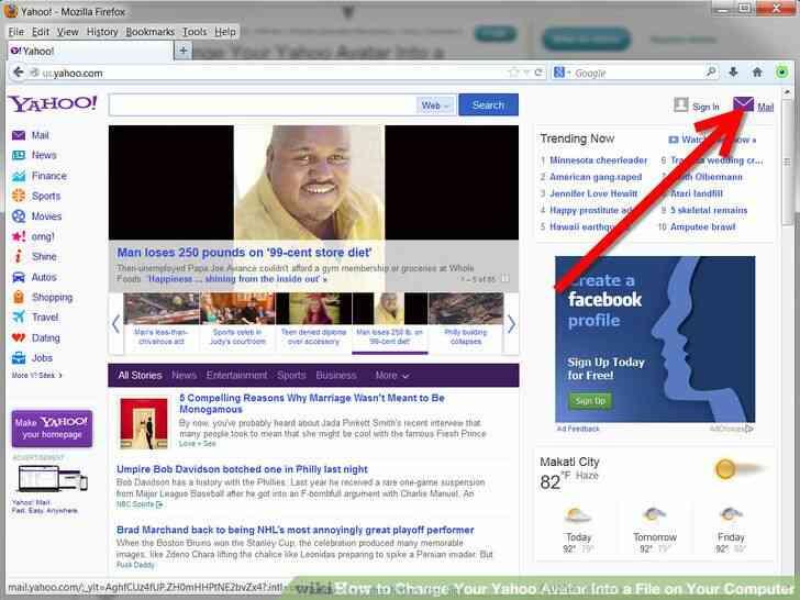 Imagen titulada Cambiar Tu Avatar de Yahoo En un Archivo en Su Computadora Paso 4