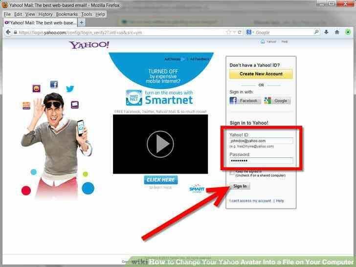 Imagen titulada Cambiar Tu Avatar de Yahoo En un Archivo en Su Computadora Paso 5
