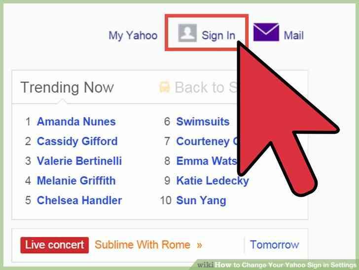 Imagen titulada Cambiar Tu cuenta de Yahoo Signo de Configuración del Paso 2