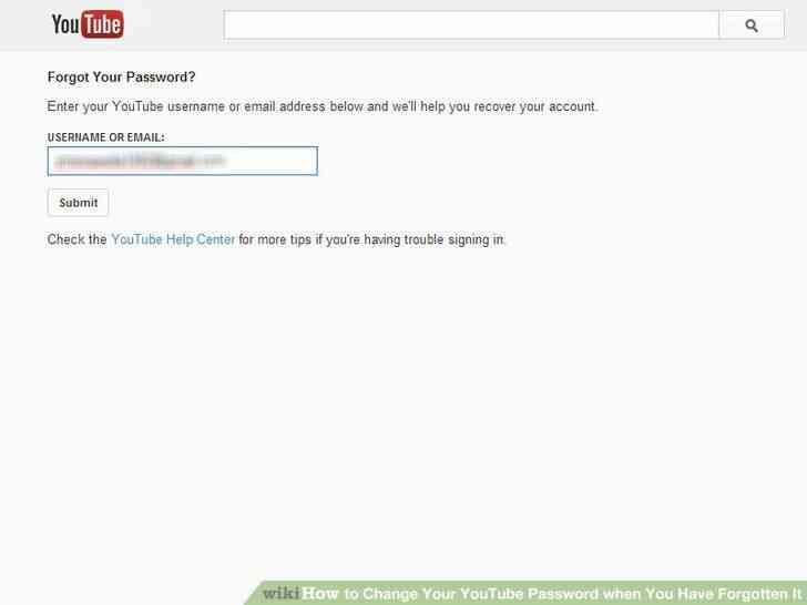 Imagen titulada Cambiar Su Contraseña de Youtube cuando Se Ha Olvidado el Paso 2