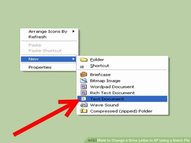 Imagen titulada Cambiar una Letra de Unidad en windows XP Mediante un Archivo por Lotes Paso 2
