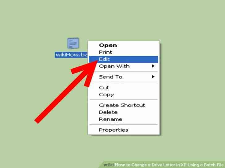 Imagen titulada Cambiar una Letra de Unidad en windows XP Mediante un Archivo por Lotes Paso 3