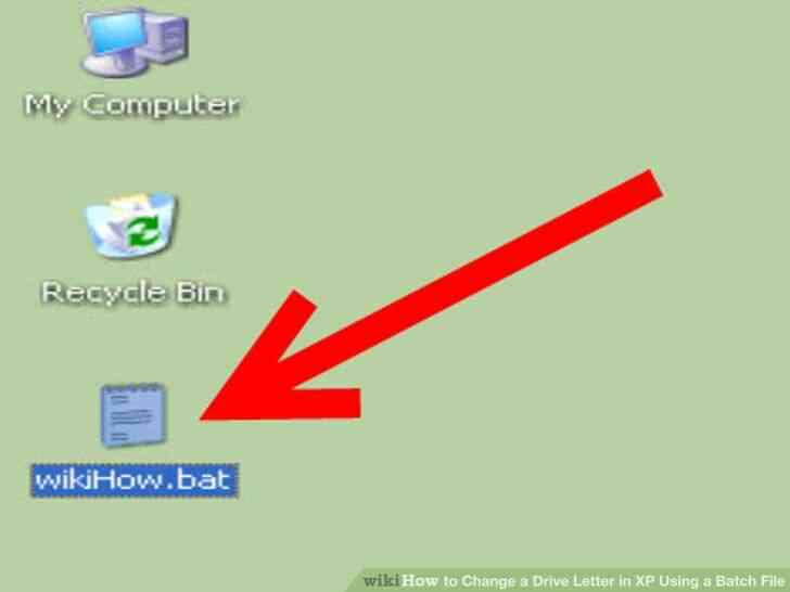 Imagen titulada Cambiar una Letra de Unidad en windows XP Mediante un Archivo por Lotes Paso 5
